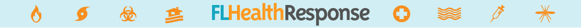 Logo banner for the Florida Health Response website.